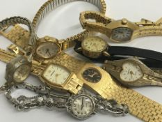 Eight ladies wristwatches including Rotary and Sek