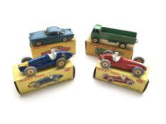 4 boxed Dinky vehicles.#234 Ferrari Racing car, #5