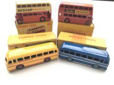 A Dinky Double Deck bus #290, a Dinky London bus #