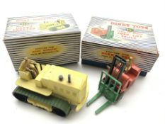 A Boxed #963 Dinky Blaw Knox Heavy Tractor and #40