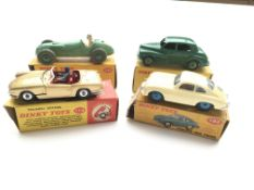 4 Dinky Boxed Dinky cars, #114 Triumph Spitfire, #
