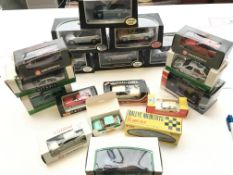 A collection of boxed toy cars from BMW M3 cabriol