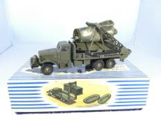 A Dinky Super toys Brockway Military truck with br