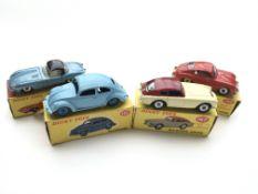 "4 Boxed Dinky cars, #120 Jaguar ""E"" type, #181 Vol"