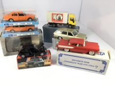 A collection of toy cars including a Ford Fiesta,L