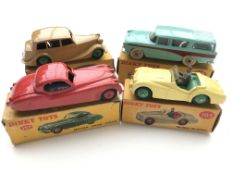 4 Dinky cars boxed, #152 Triumph 1800 Saloon, ##15