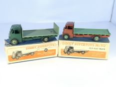 2 Dinky Supertoys Guy flat trucks # 513 and # 512,