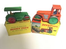 A Dinky #251 Aveling-Barford Diesel Roller and a D