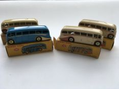 4 boxed Dinky Luxury Coaches # 281, all with diffe
