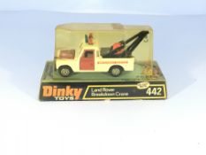 A Dinky Land Rover breakdown crane boxed #442.