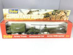 A Dinky Commando Squad set #303 including Army tru