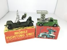 A boxed Lone Star mobile fighting unit and a boxed