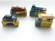 4 boxed Corgi vehicles #181 Volkswagen, #437 Super