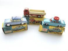 3 Corgi boxed cars # 217 Fiat 1800, #236 Motor Sch