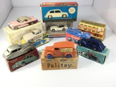 A collection of boxed cars including a Chad Valley