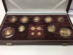 A cased Golden jubilee gold proof set consisting o