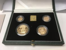 A gold proof 2000 sovereign set (4) comprising £5