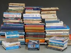 Approximately 100 aviation interest books, DVDs and magazines including aircraft profiles, Fokker,
