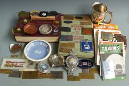 Motoring collectables including Cheltenham, Bristol, 750, RAF and RAC car badges, Castrol marshal'