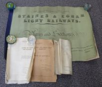 Bound book of plans and sections relating to the Staines & Egham Light Railway dated May 1900, 56