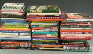 Approximately 65 railway interest books to include Cheltenham, Swindon and Faringdon