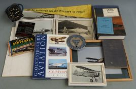Aviation collectables including Fairey Aviation MC & LCC badge, Gloster and Gloucestershire interest