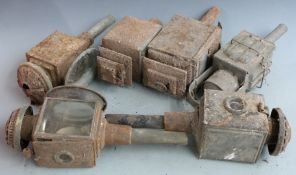 Six various 19thC and later coach or carriage lamps