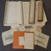 Maps, plans and paperwork relating to the London-Brighton motorway or Southern Motor Road, circa mid