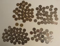 A collection of collectable 50p and £2 coins, including a complete set of 2012 Olympic Games and