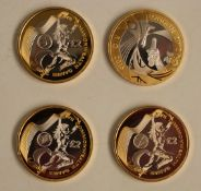 Three proof Commonwealth Games £2 coins, together with a 2012/2016 London/Rio Olympic Games example