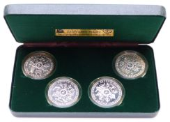 Pobjoy Mint Moscow Olympics silver proof coin set, in plush case with certificates