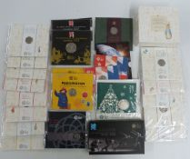 A collection of Beatrix Potter 50p coins in presentation packs, together with the Complete Countdown