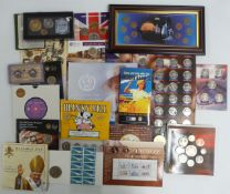 A collection of coin presentation packs to include 2009 'Blinky Bill' Australian coin set, Harry