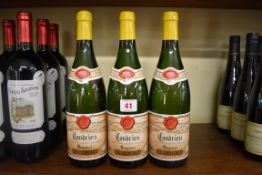 Three 75cl bottles of Condrieu, 1989, Etienne Guigal. (3)