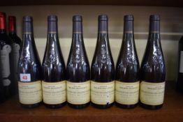 Six 50cl Coteaux de Layon Selection Grains Nobles, 1997, Philippe Delesvaux. (6)