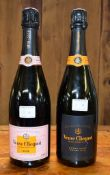Two 75cl bottles of Veuve Clicquot champagne, comprising: 'Extra Brut Extra Old' and Rose. (2)