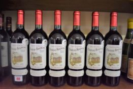 Six 75cl bottles of Segonzac vieilles vignes, 2000, Cotes de Blaye. (6)