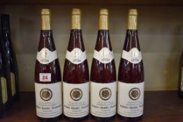 Four 70cl bottles of Kallstadter Steinacker Beerenauslese, 1979, St Nikolaus. (4)