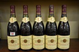 Five 75cl bottles of Chateauneuf du Pape Font de Michelle, 1986,Gonnet. (5)