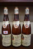Three 70cl bottles of Niersteiner Paterberg Beerenauslese, 1976, Strub. (3)