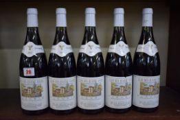 Five 75cl bottle of Fleurie Clos des Quatre Vents, 2003, George Duboeuf. (5)