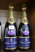 Two 75cl bottles of Charles Heidsieck Mis en Cave 1996 brut reserve NV champagne. (2)