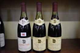 Three 75cl bottles of Hermitage, 1974, Parisot. (3)