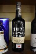 A 75cl bottle of Gonzalez Byass 1970 vintage port.
