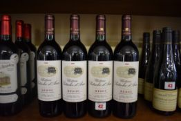 Four 75cl bottles of Chateau Patache d'Aux, 1996, Cru Bourgeois Medoc. (4)