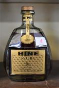 A 68cl bottle of Hine 'Antique Tres Vieille' cognac,probably 1970s/80s bottling, (foil seal not