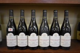 Six 75cl bottles of Auxey Duresses, 1999, Domaine Labry. (6)