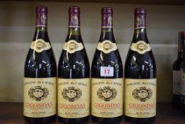 Four 75cl bottles of Gigondas Domaine du Cayron, 1986, Michel Faraud. (4)