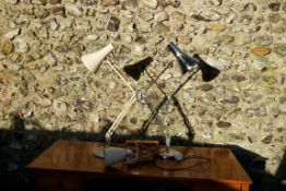 Two anglepoise lamps; together with another. This lot can only be collected on Saturday 19th