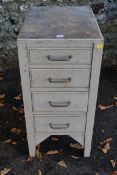 A four drawer workshop cabinet. This lot can only be collected on Saturday 19th December (9-2pm).